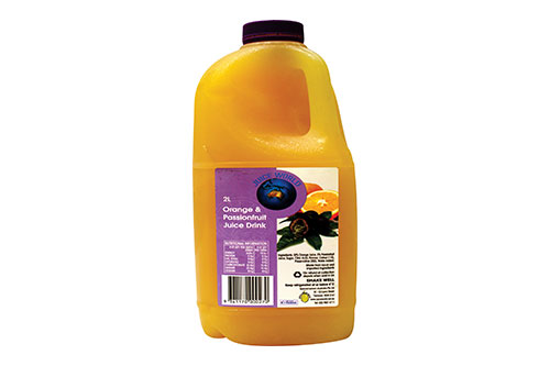 Orange and Passionfruit drink